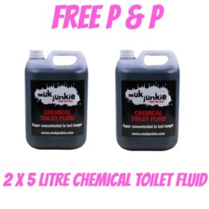 Special Offer – 2 x 5 litre Chemical Toilet Fluid including free* P & P